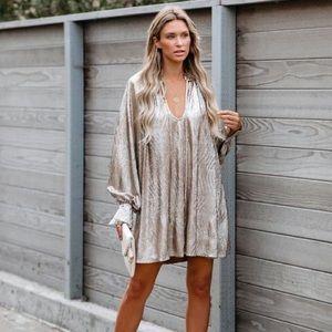 NWT Vici New Year's Resolution Metallic Dress - L